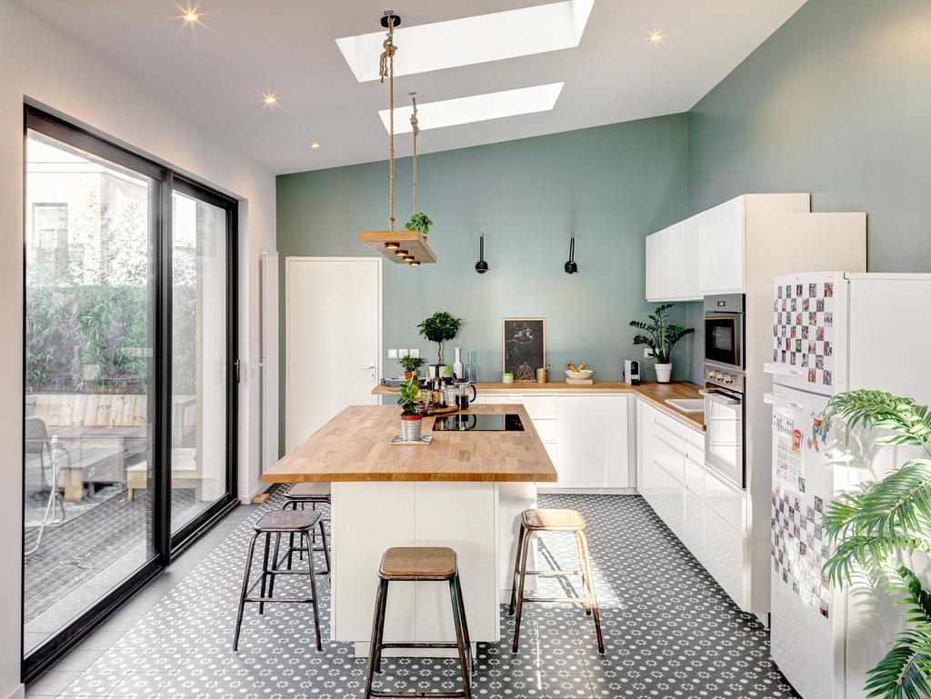 cuisine mur vert sauge