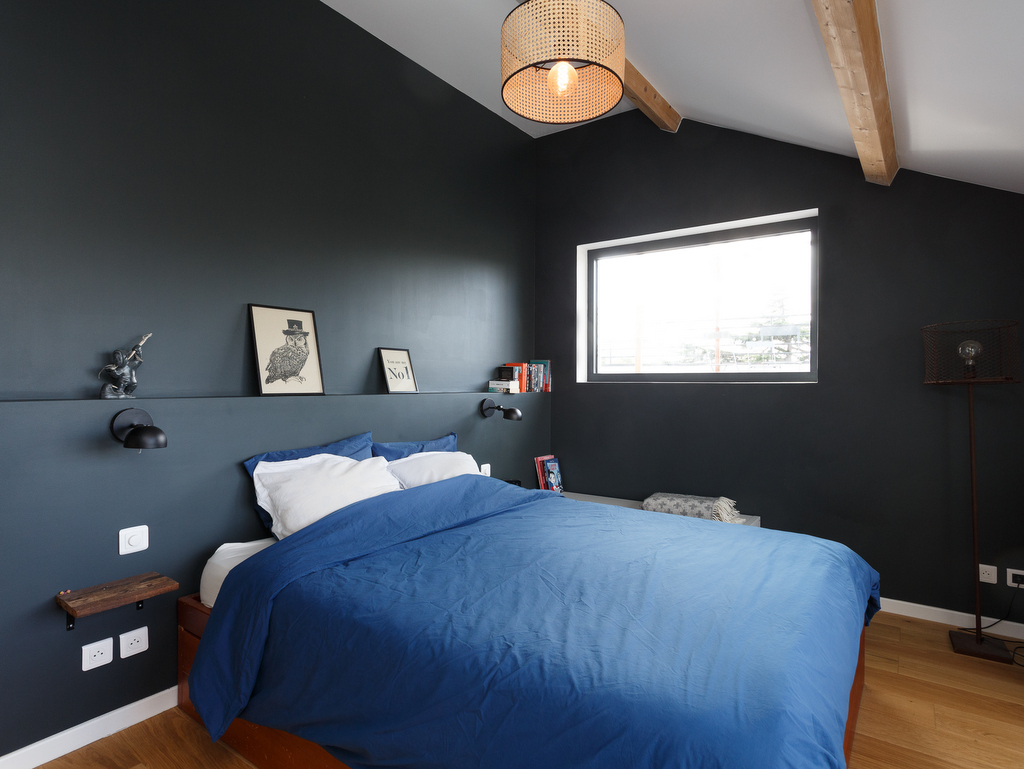 chambre murs gris anthracite