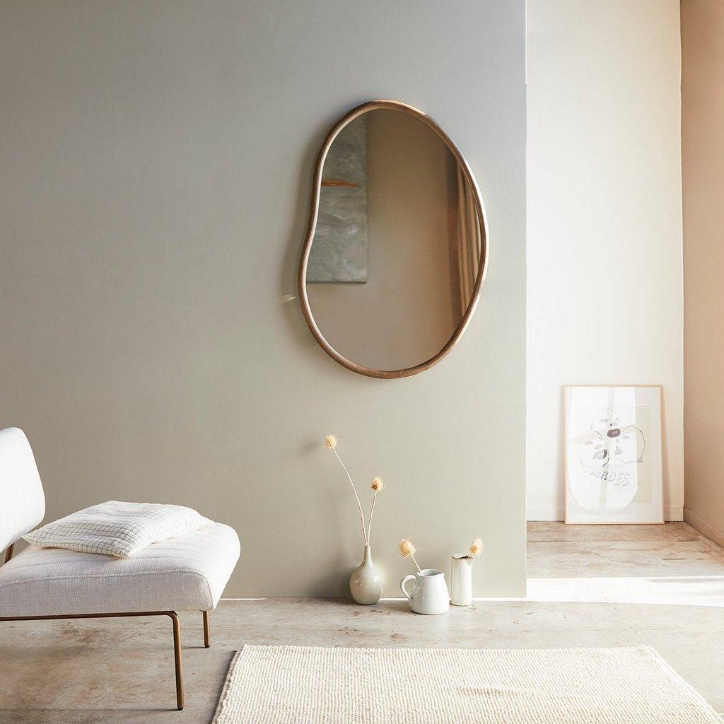 miroir en bois forme organique