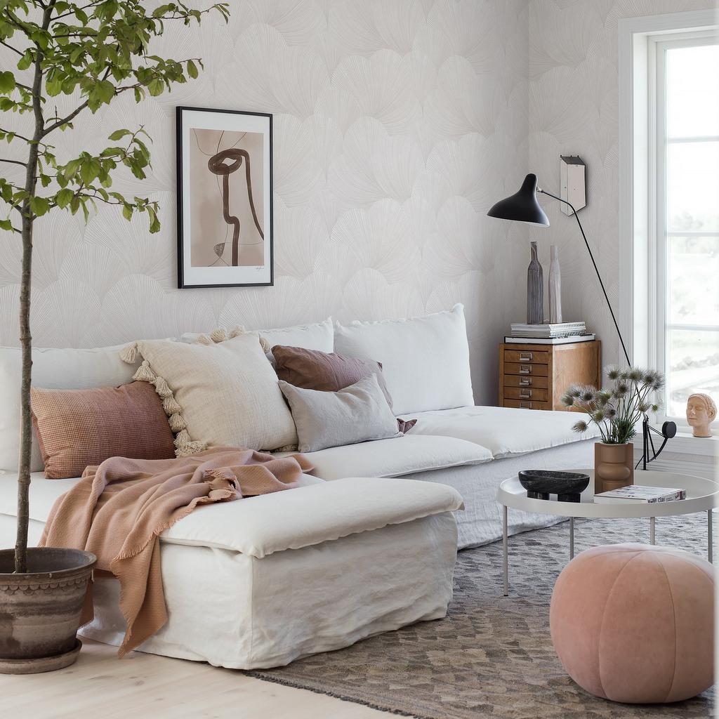 salon blanc beige terracotta