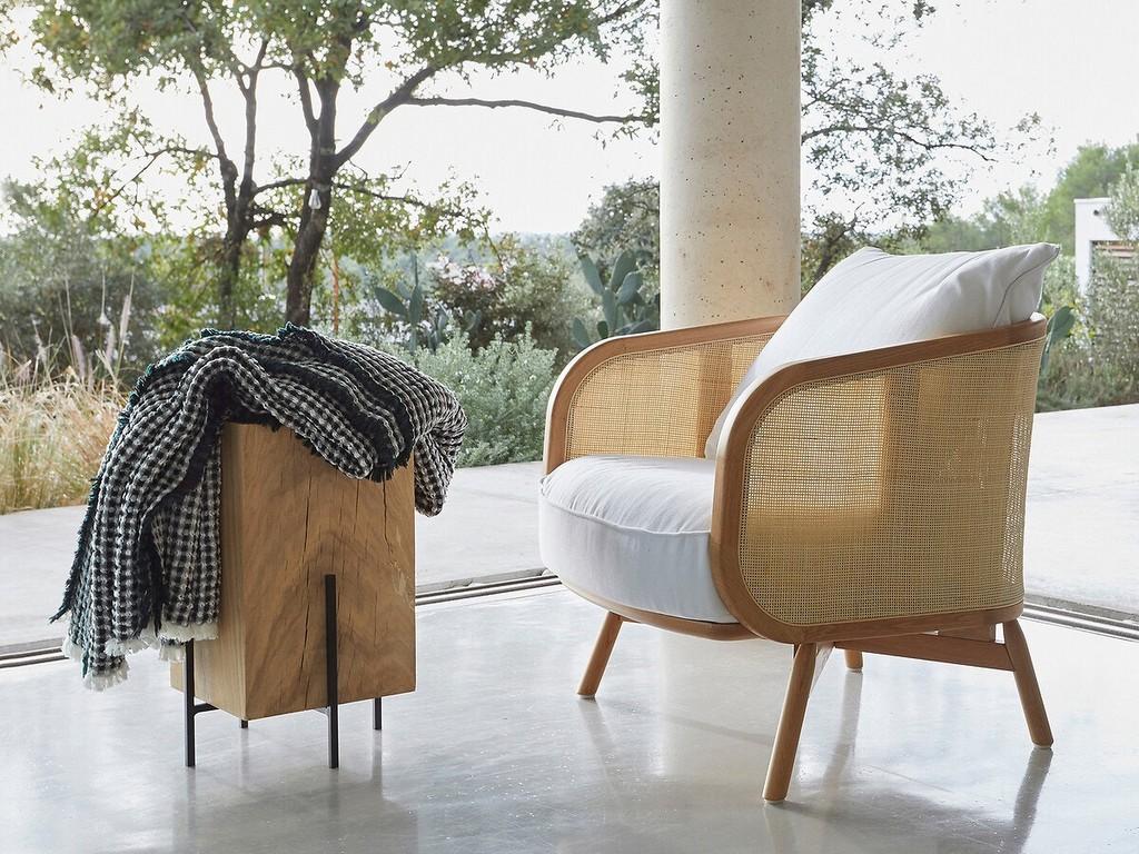 fauteuil design en cannage