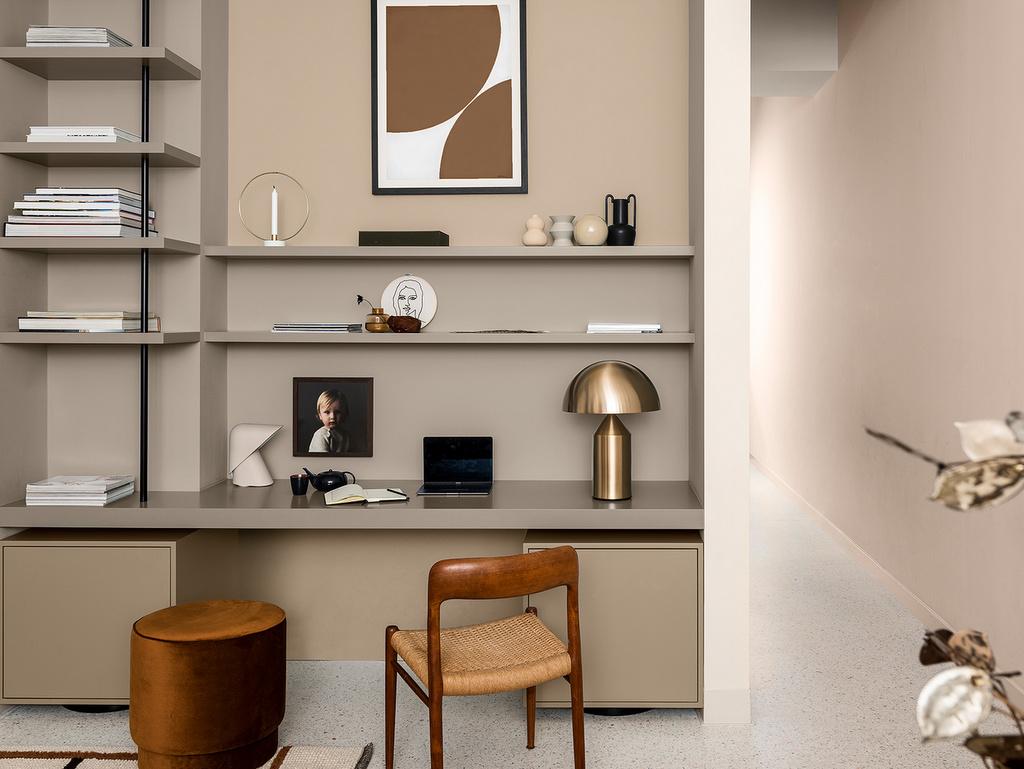 mur beige bureau