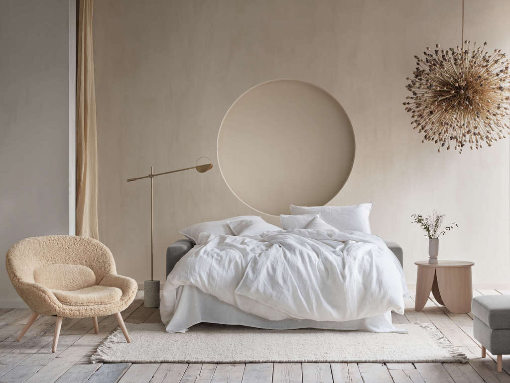 mur beige chambre
