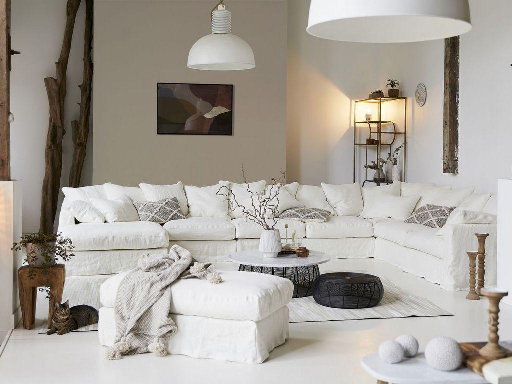 mur beige salon