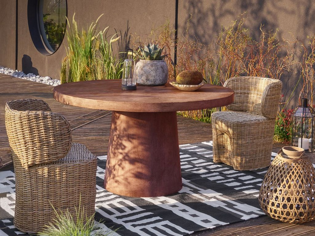 salon de jardin terracotta