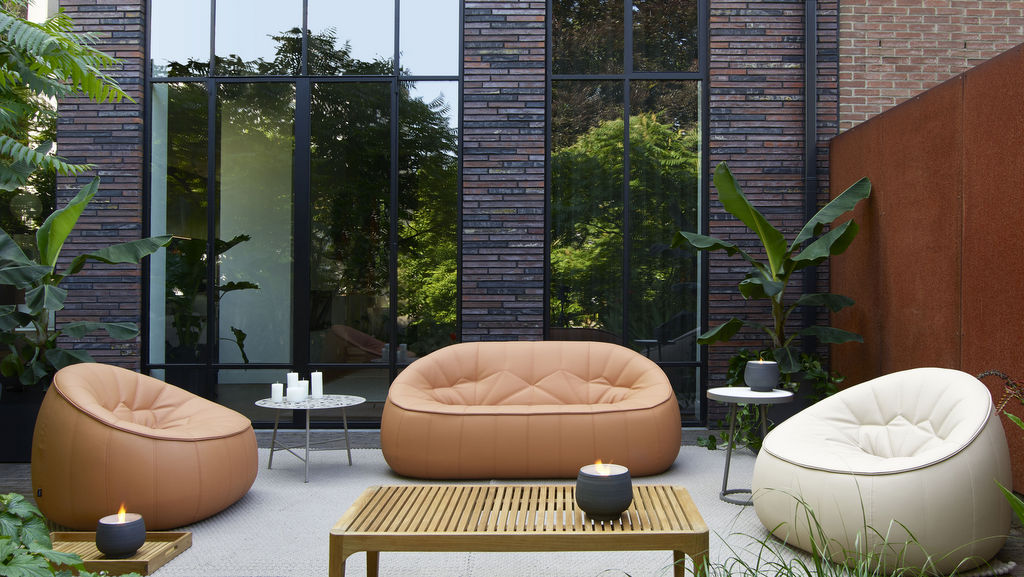 Terrasse terracotta et beige