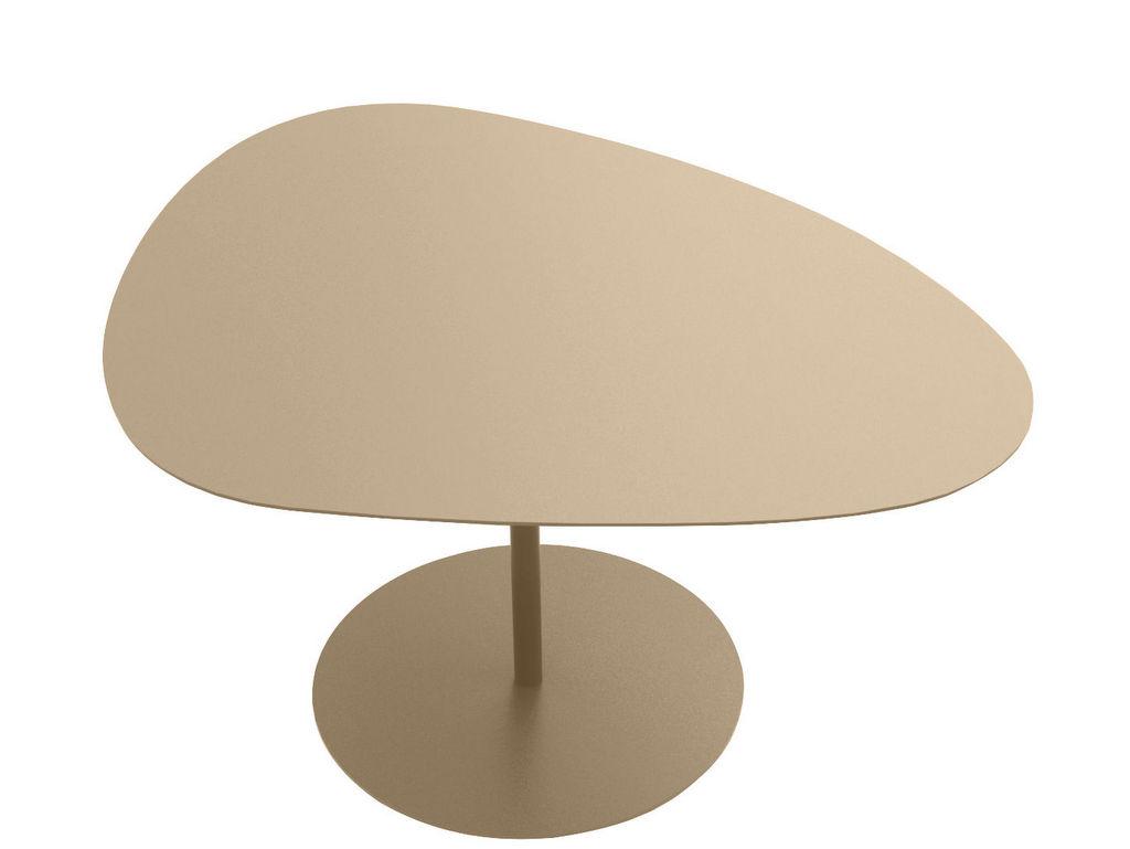 table basse de jardin beige