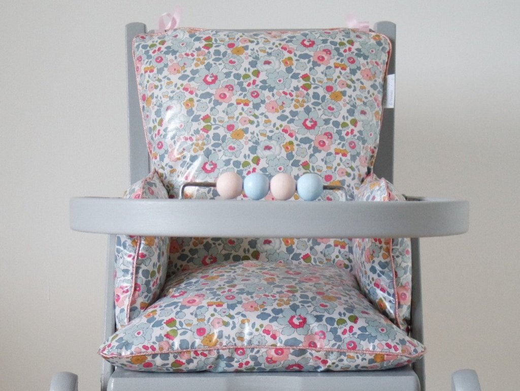 coussin chaise haute liberty