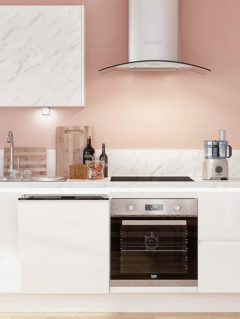 cuisine rose pâle