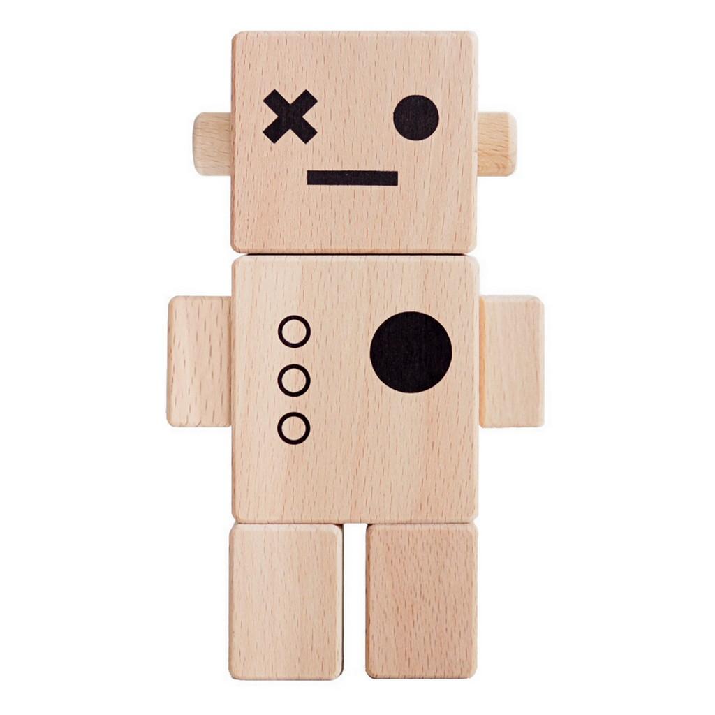 robot en bois