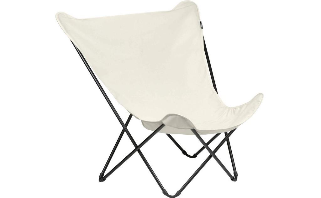 fauteuil papillon blanc écru