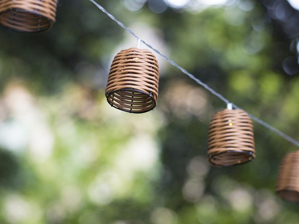 guirlande de jardin en rotin synthétique