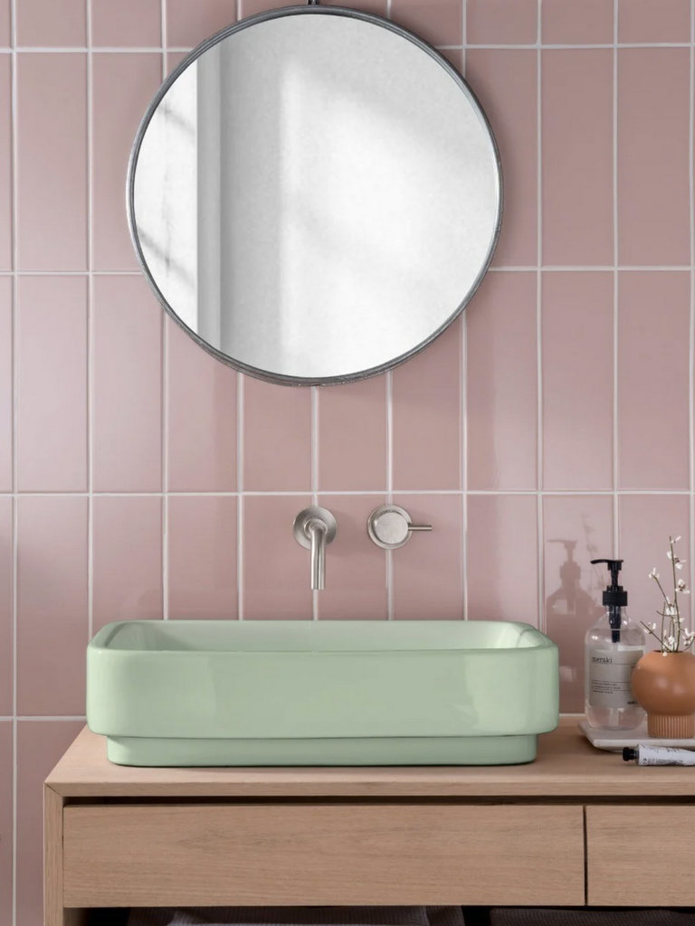 lavabo vert pastel