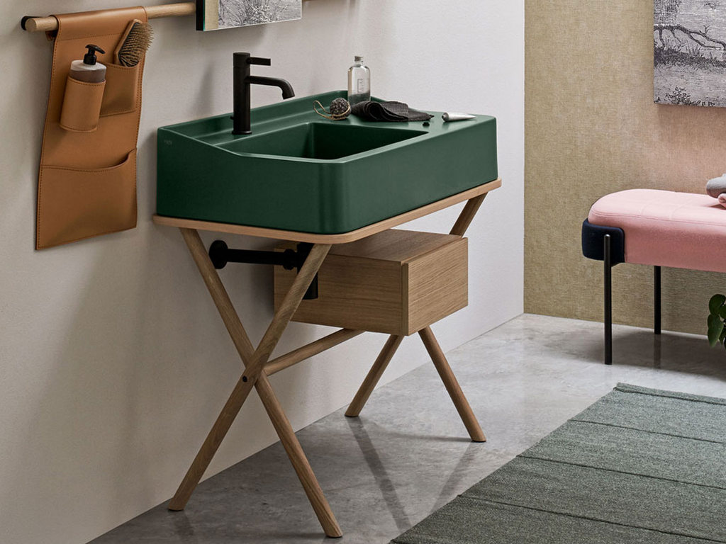 lavabo vert