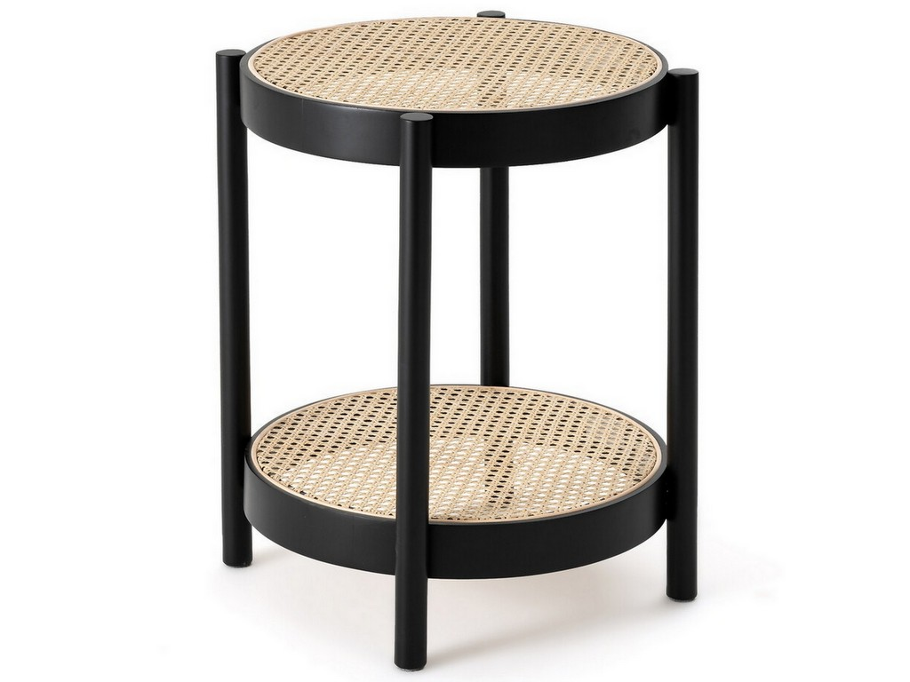 table d'appoint en cannage
