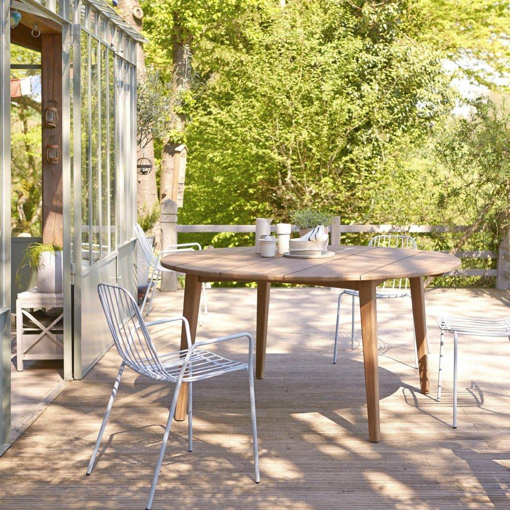 table ronde jardin en teck