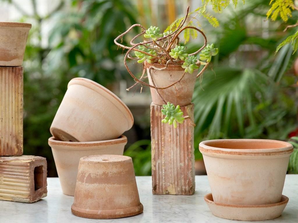cache-pot terracotta