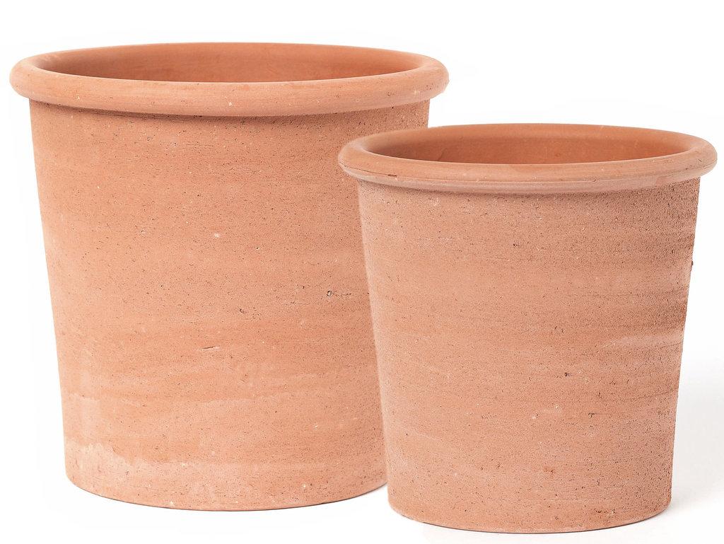 cache-pot design terre cuite
