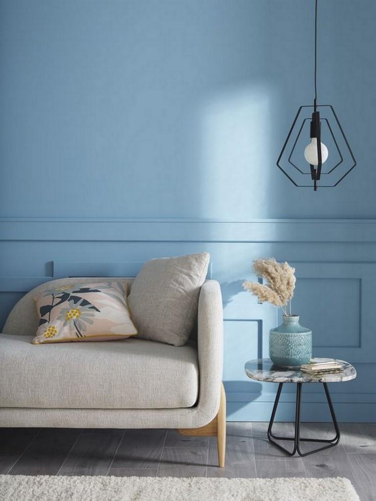 mur salon bleu cioel