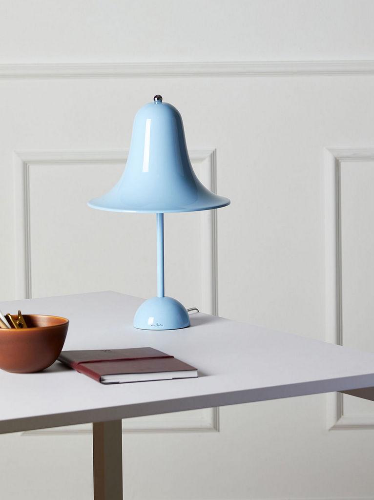 lampe design bleu ciel