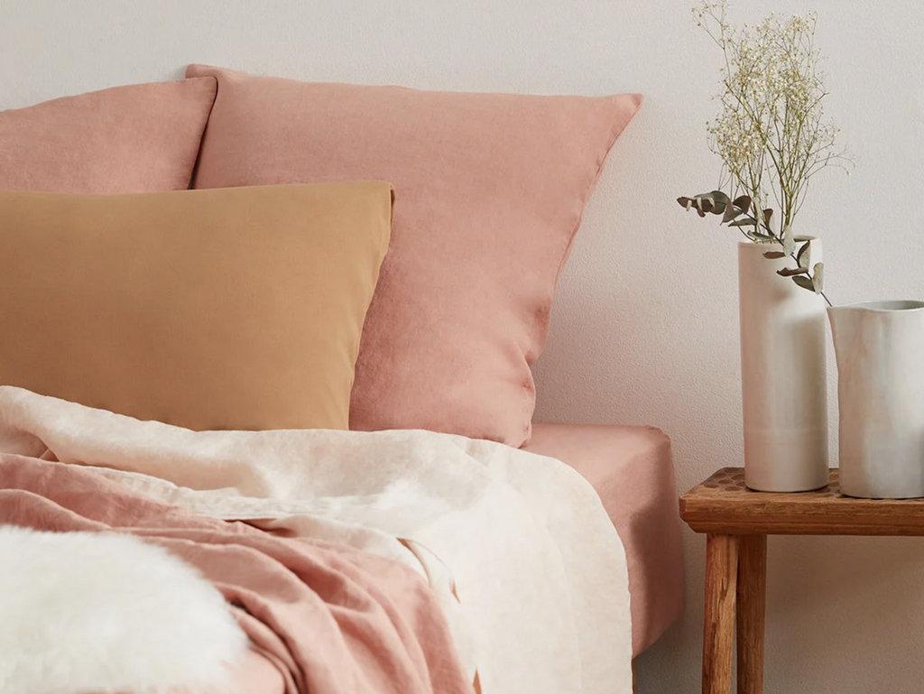 chambre terracotta et rose