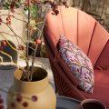 fauteuil de jardin terracotta