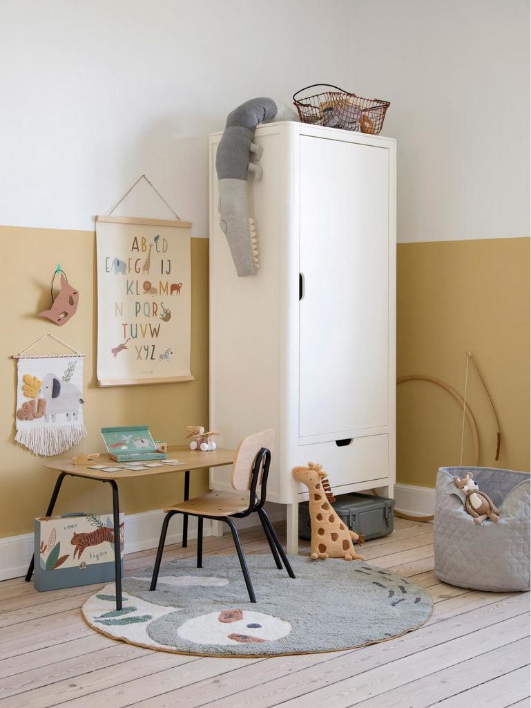 mur bicolore chambre enfant