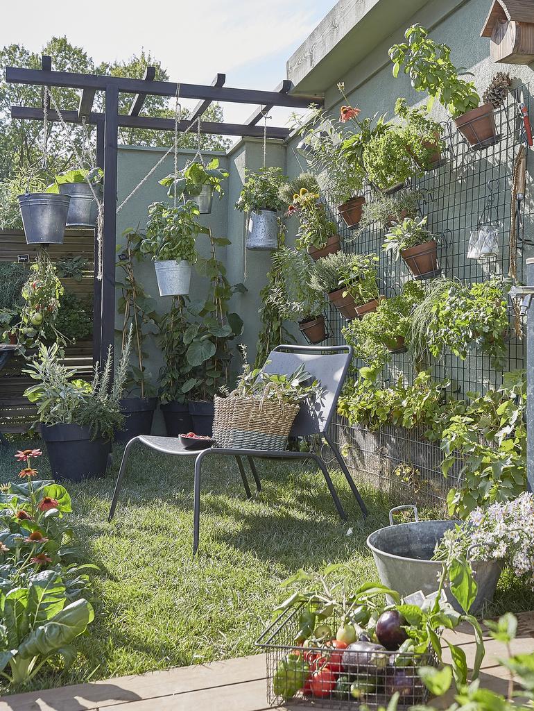 déco jardin vert