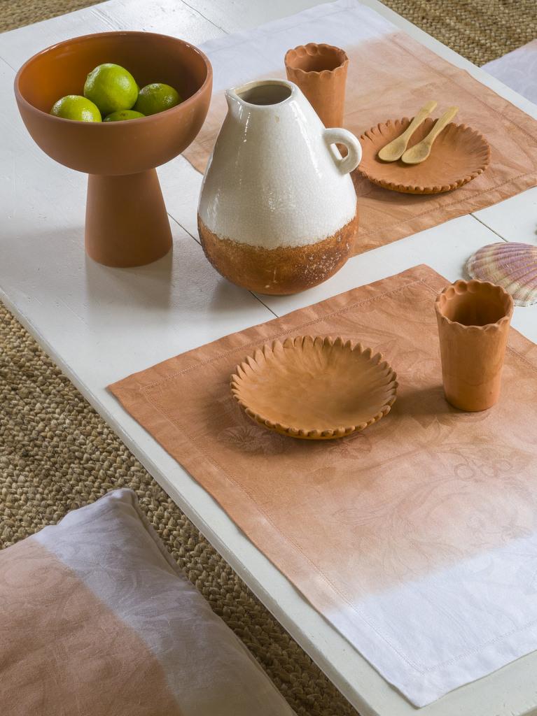 set de table terracotta