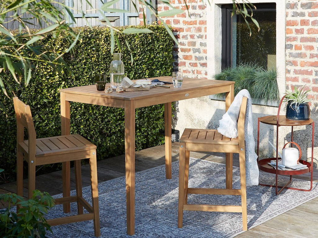 table haute jardin