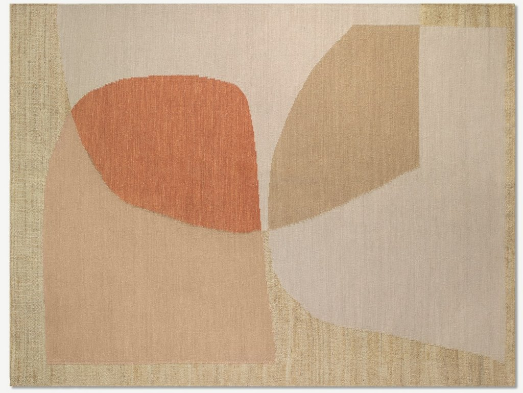 tapis en jute beige terracotta