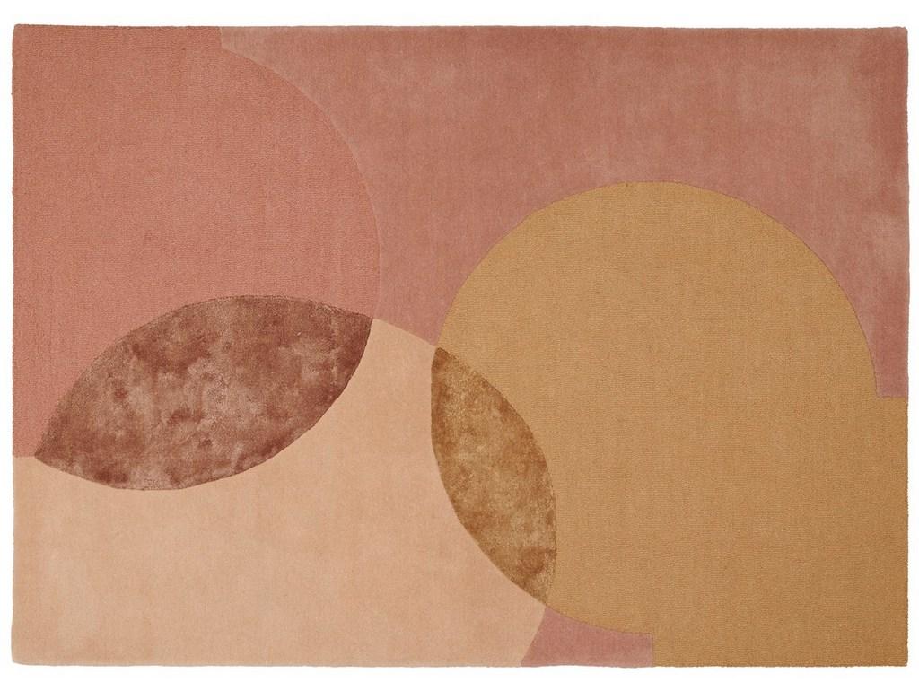 tapis rose et terracotta