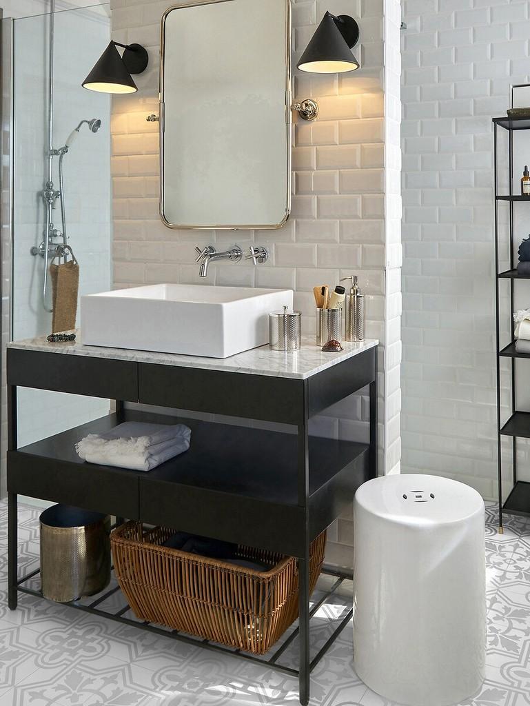 applique salle de bain style industriel