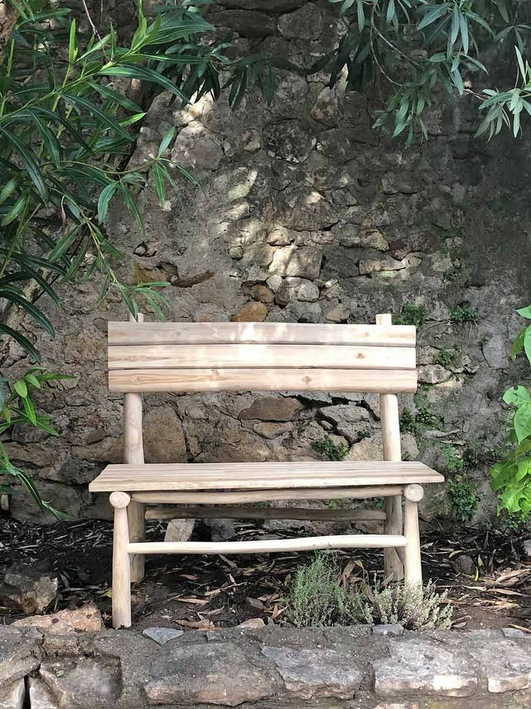 banc de jardin en teck bohème