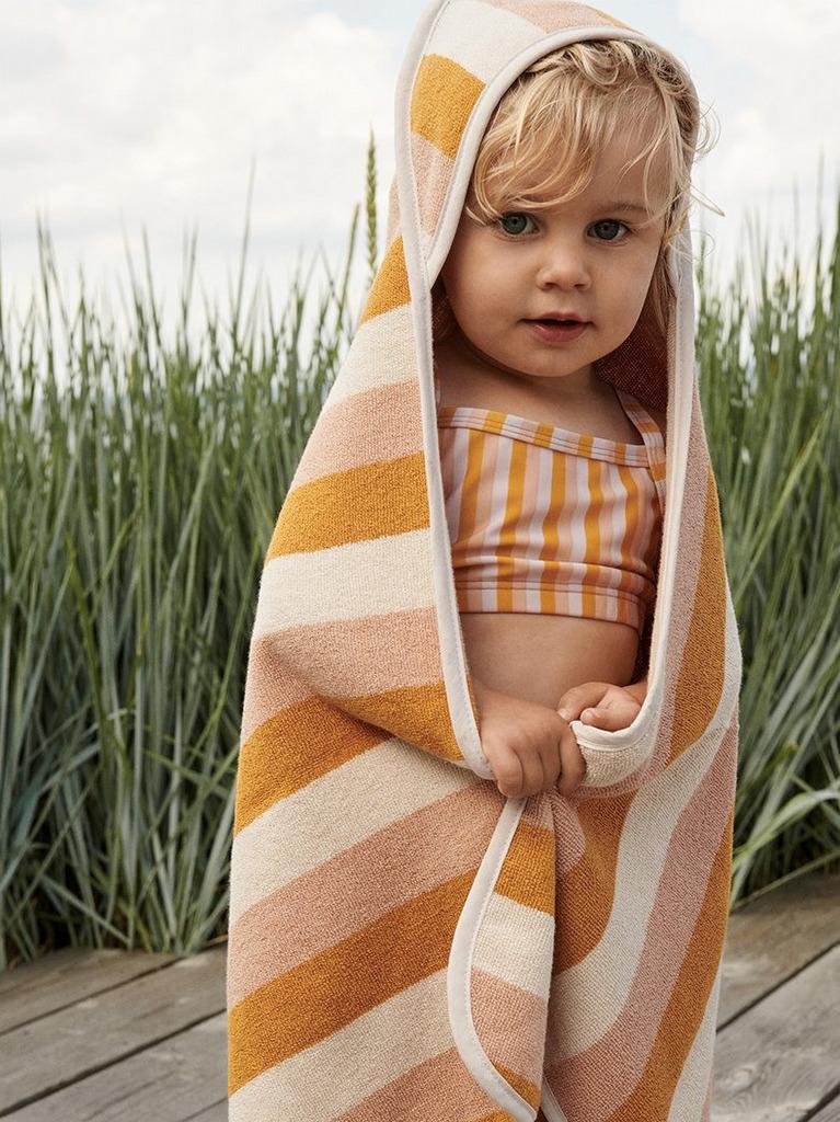 cape serviette enfant rayée