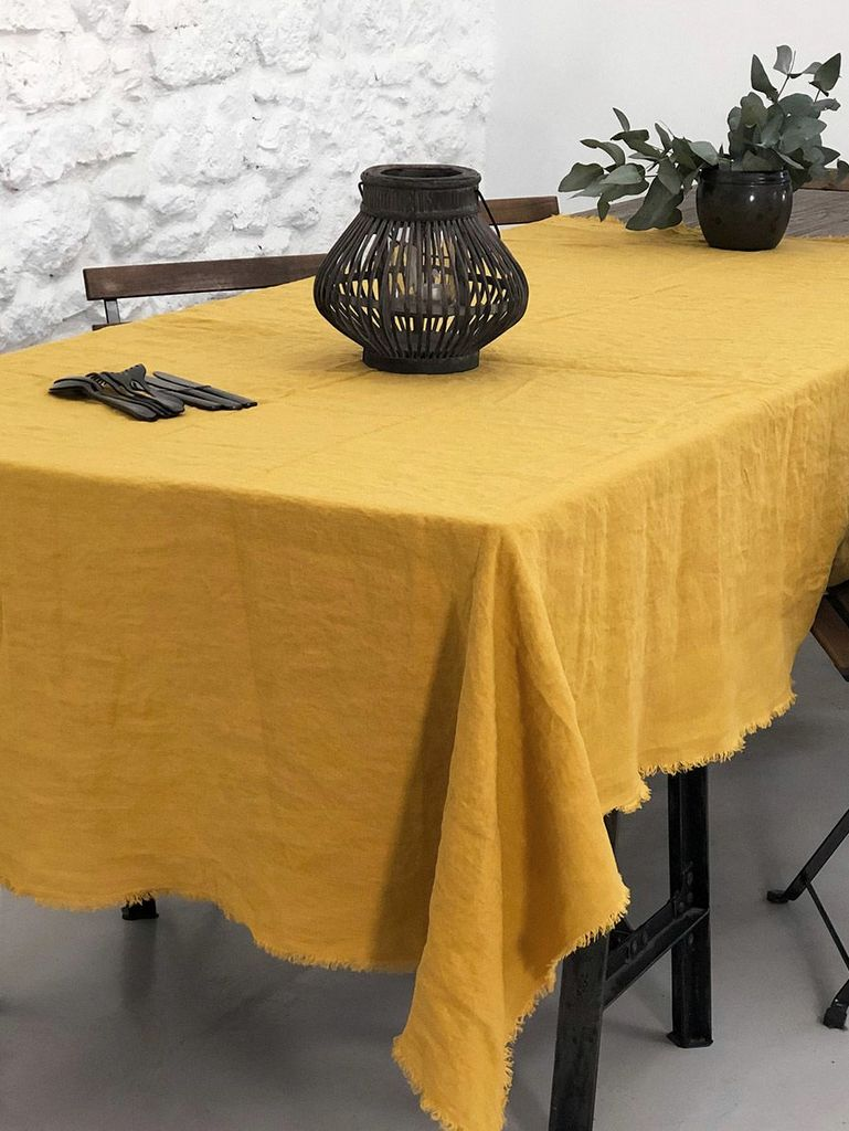 nappe jaune moutarde