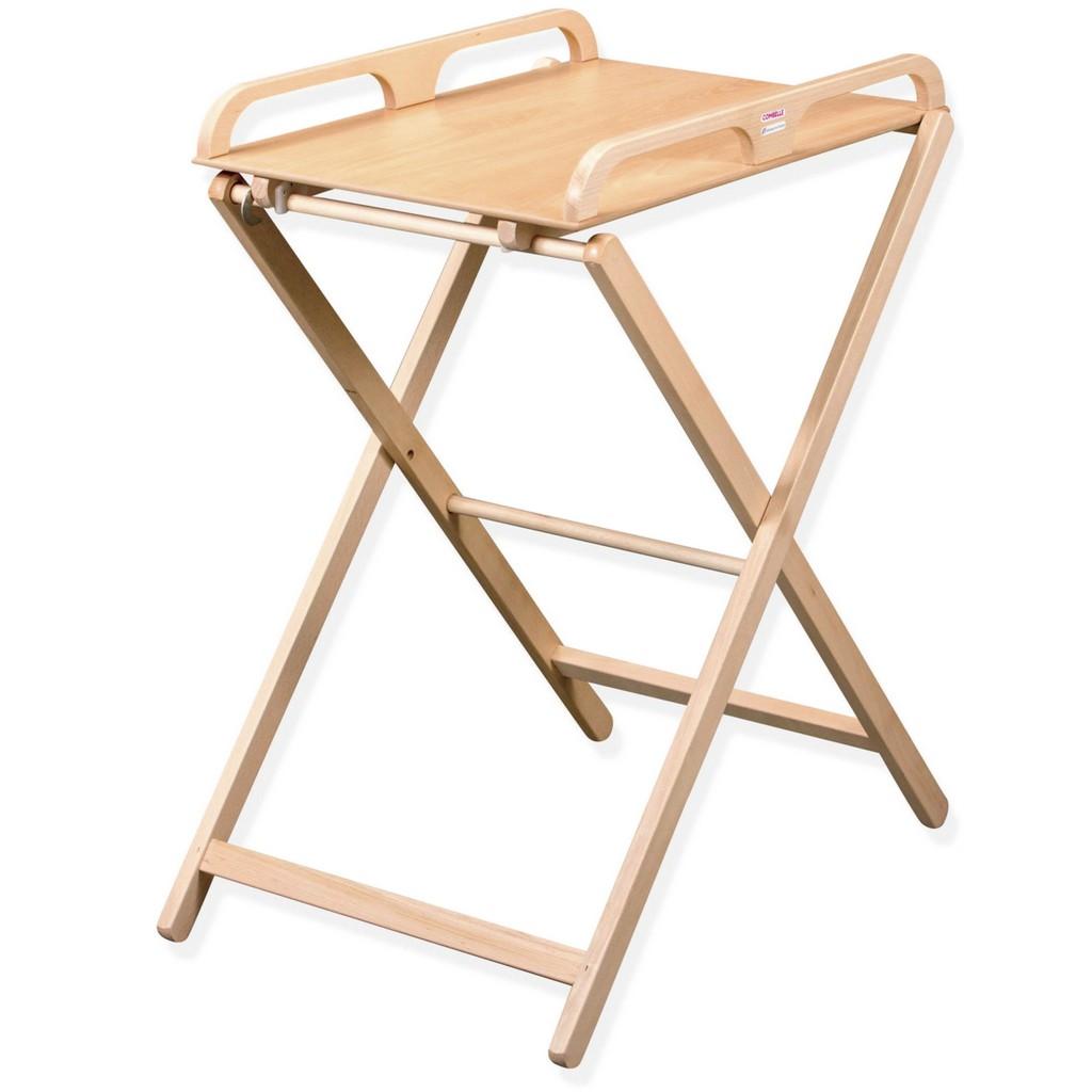 table à langer pliante bois
