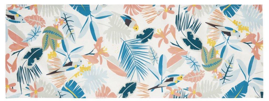 toile de transat imprimé tropical