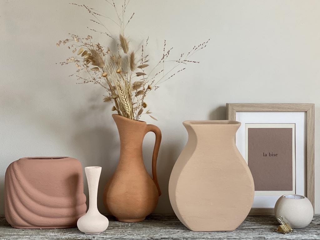 DIY vase effet terre cuite