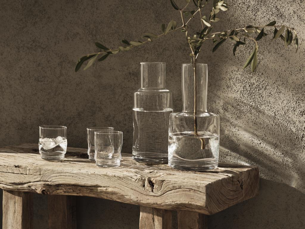 carafe en verre artisanale
