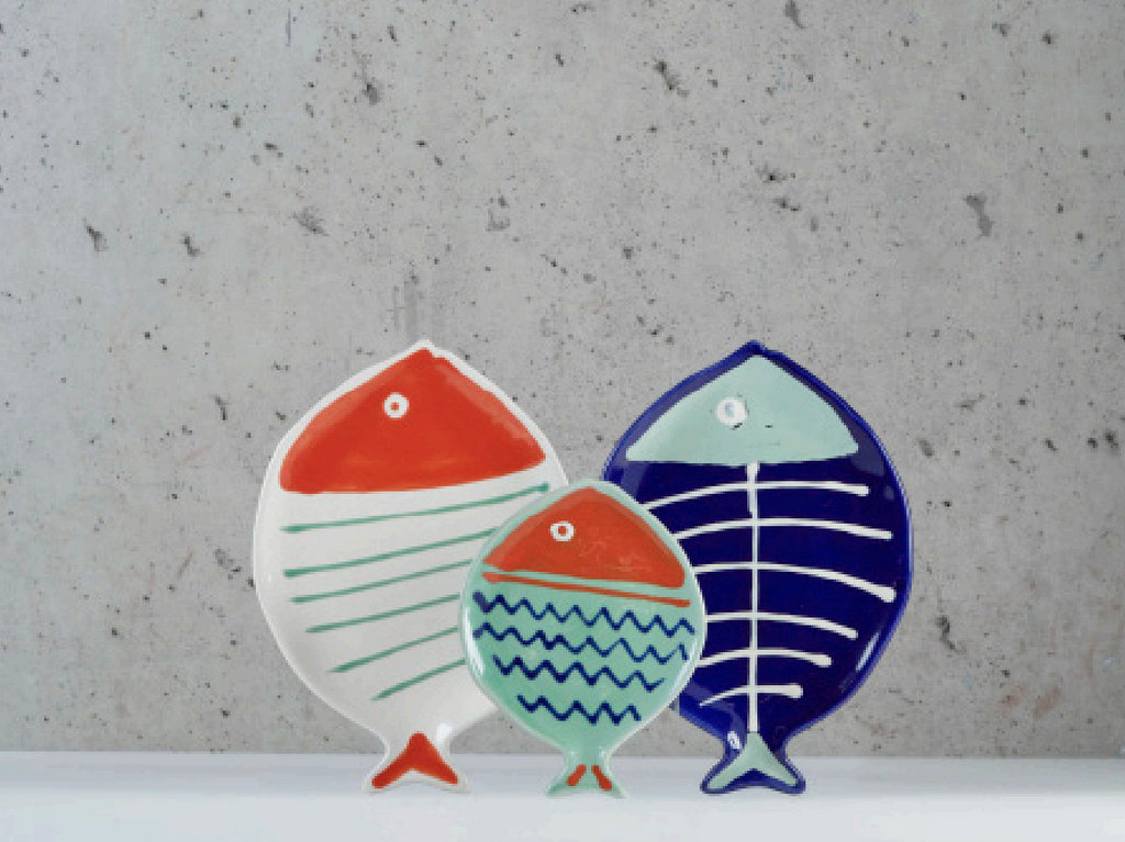 assiette en forme de poisson