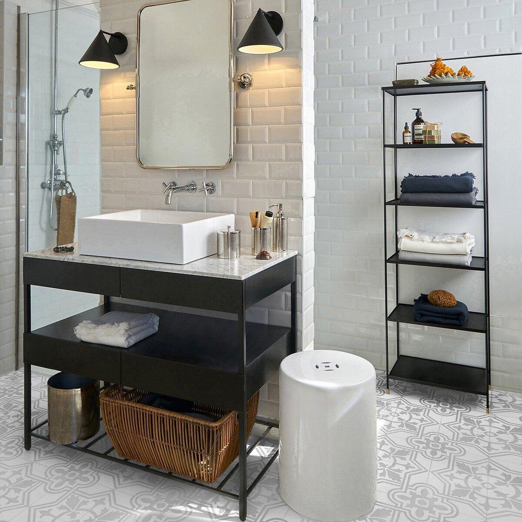 carrelage salle de bain style industriel