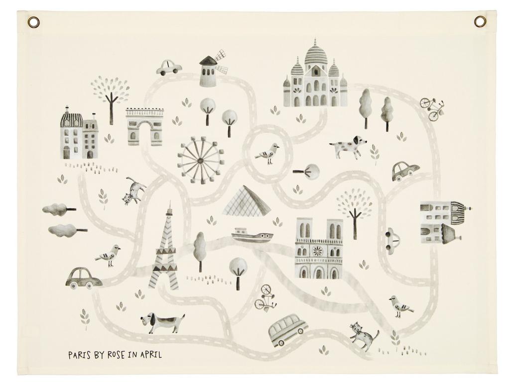carte de paris murale enfant