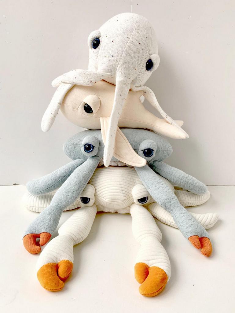 peluche pieuvre crabe