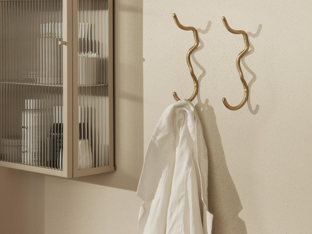 crochet de salle de bain laiton design
