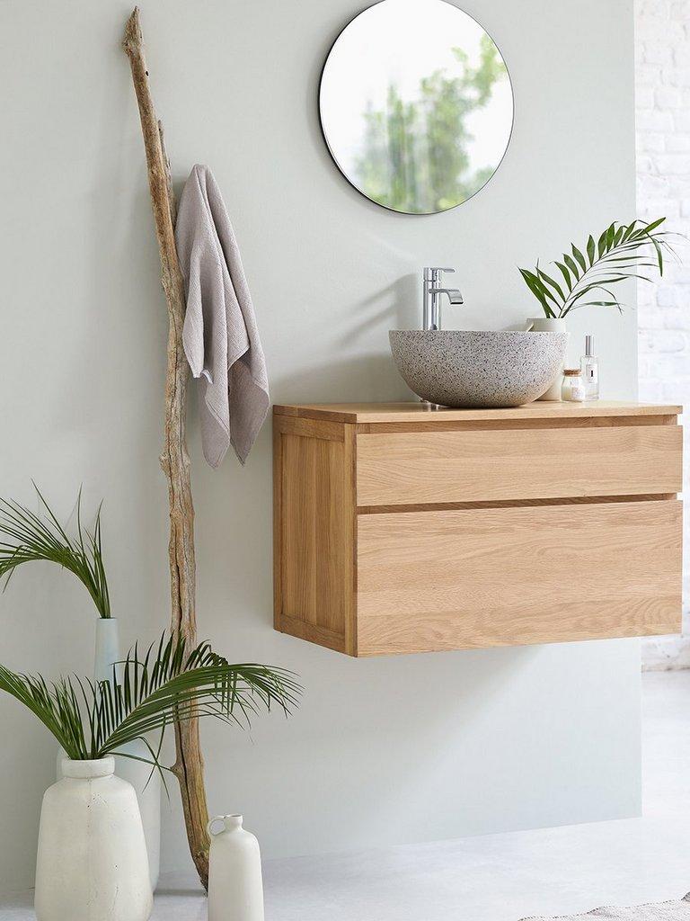 déco vert d'eau et bois salle de bain