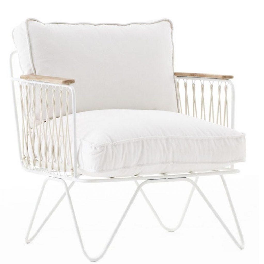 fauteuil honoré blanc