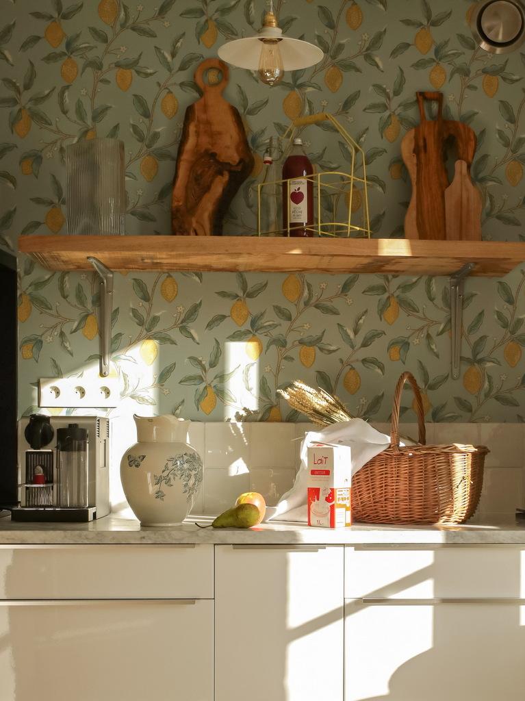 papier peint dans cuisine