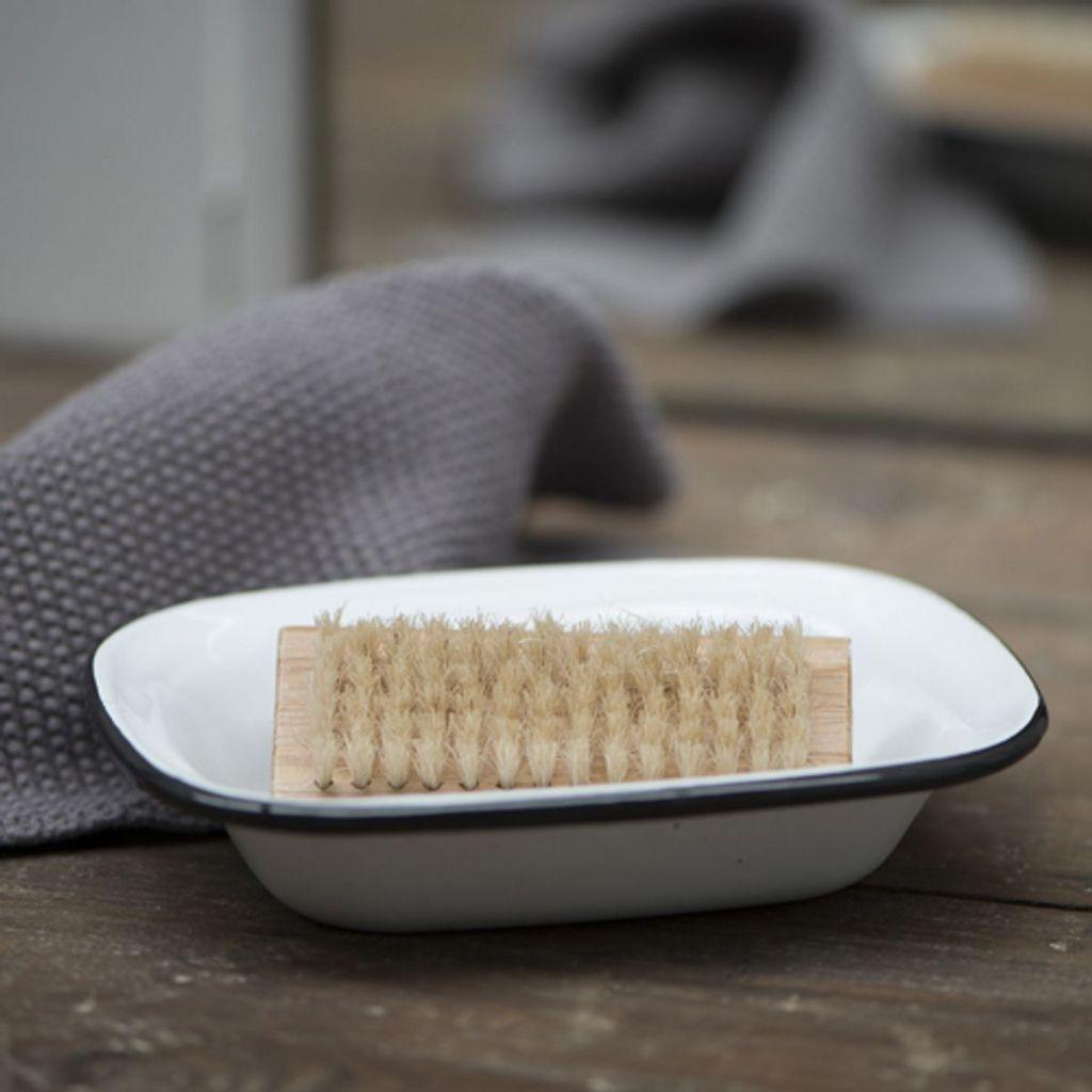 porte savon en métal émaillé