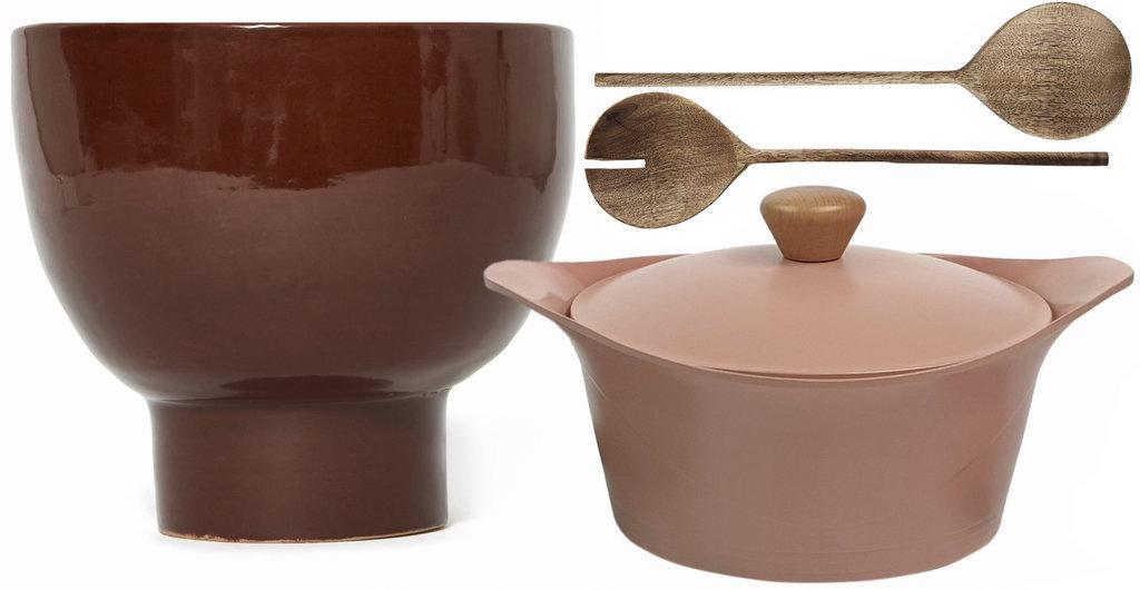saladier et cocotte terracotta